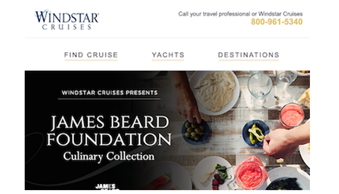 Windstar James Beard Email
