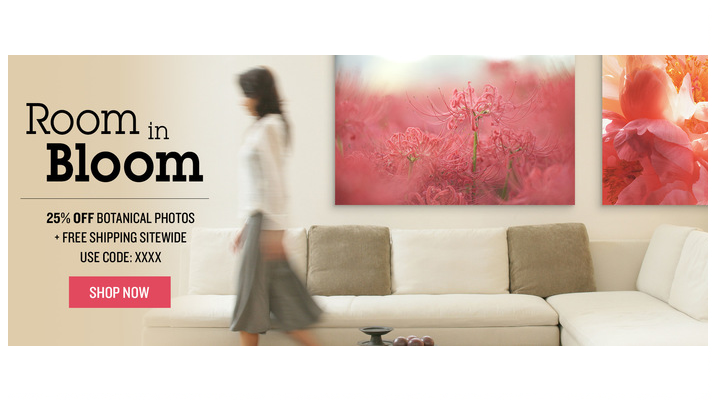 Photos.com Banner Ad Flowers
