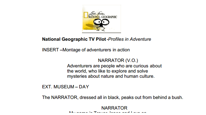 National Geographic TV Pilot Script