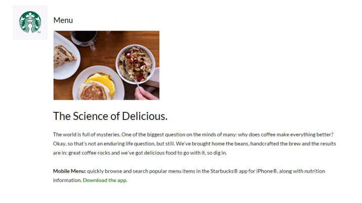 Starbuck's Landing Page