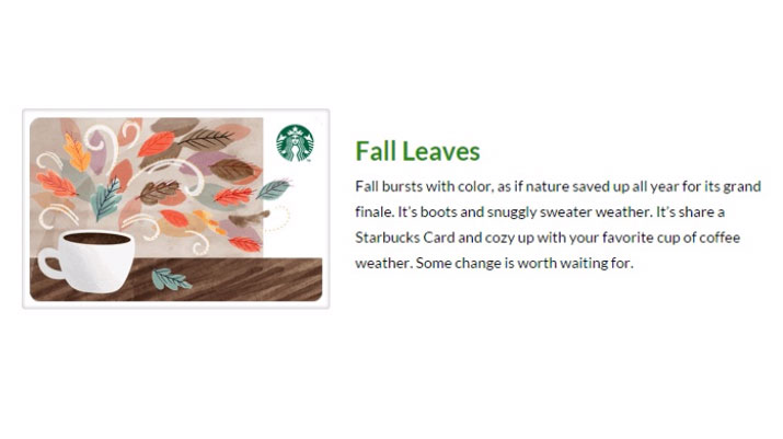 Starbuck's Fall Product Description