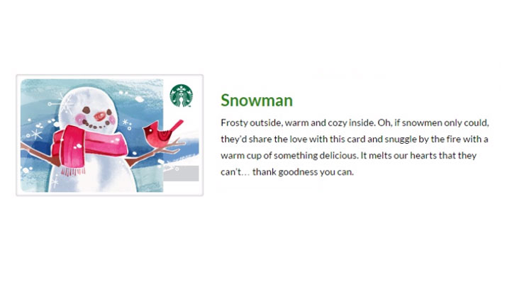 Starbucks Snowman Product Description