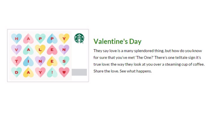 Starbuck's Valentine's Day Product Description